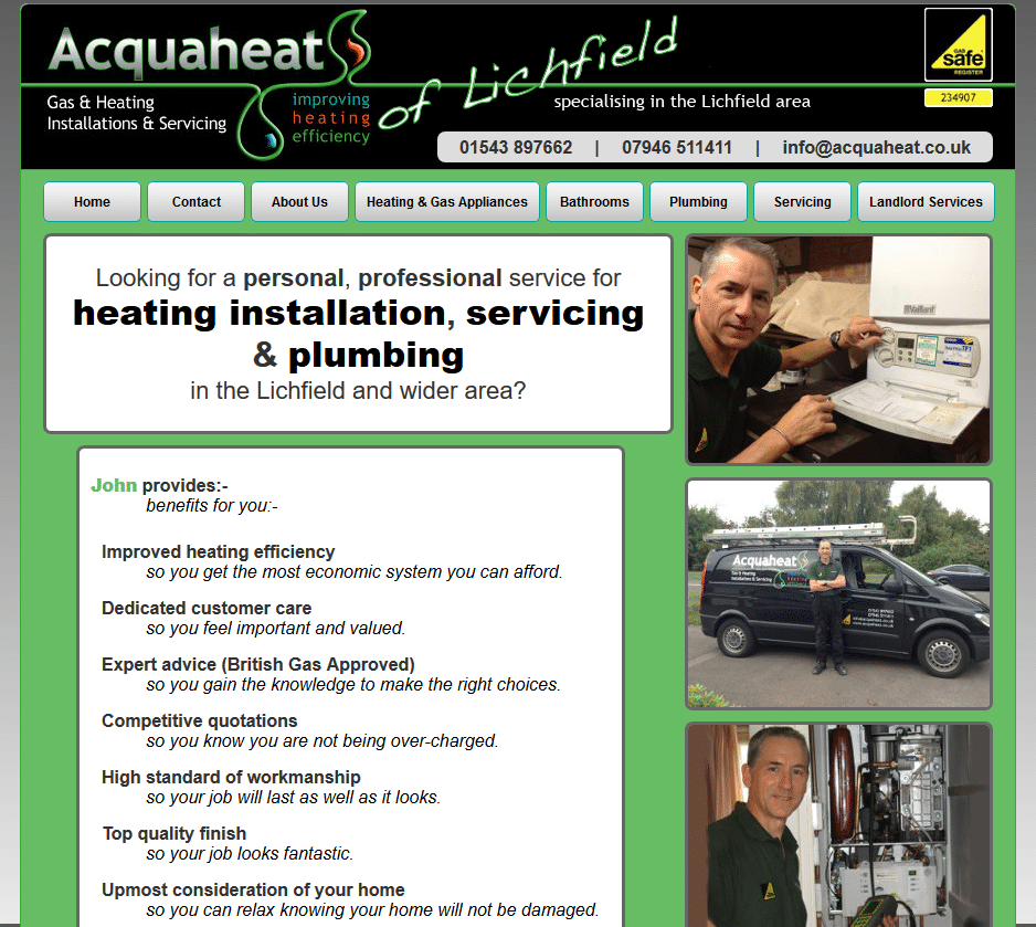 Heating installation, servicing and plumbing - Acquaheat_ - www.acquaheat.co.uk