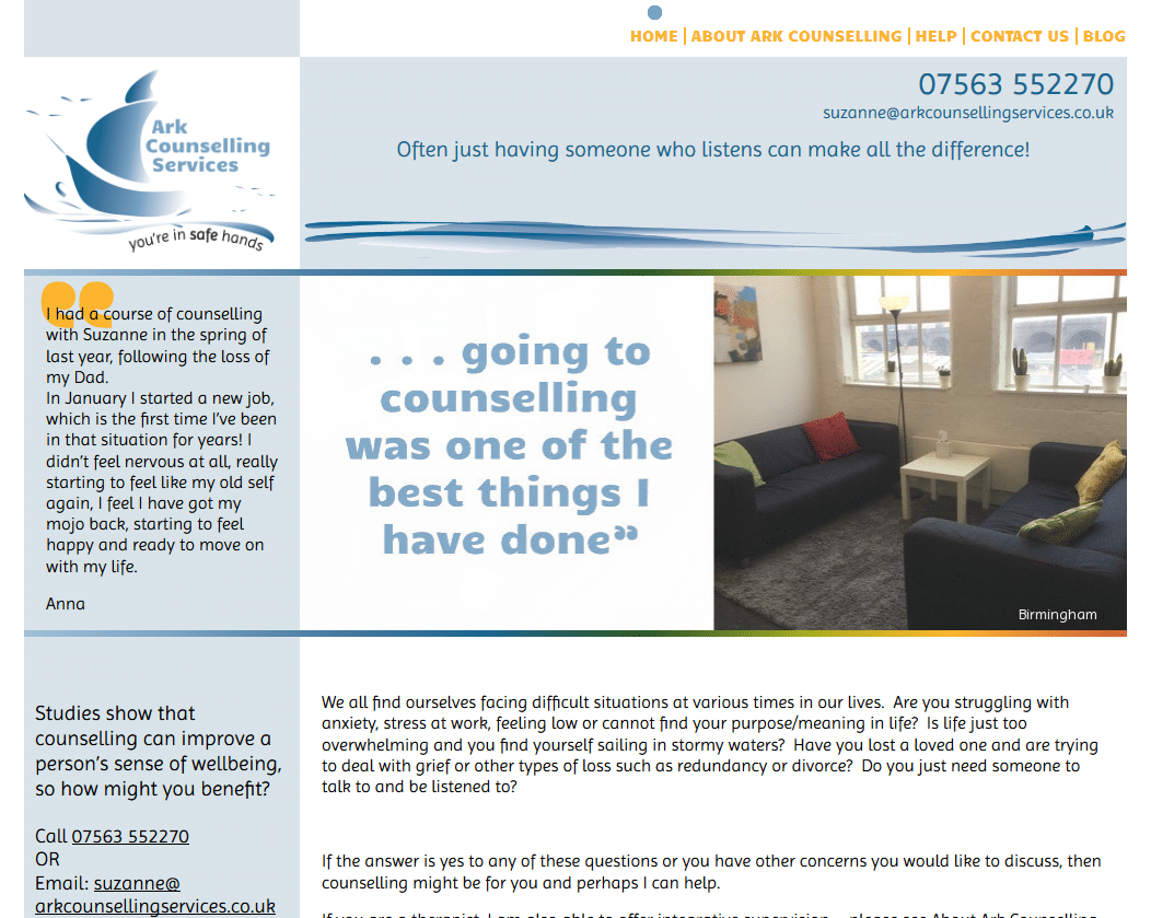 Ark Counselling Services - www.arkcounsellingservices.co.uk