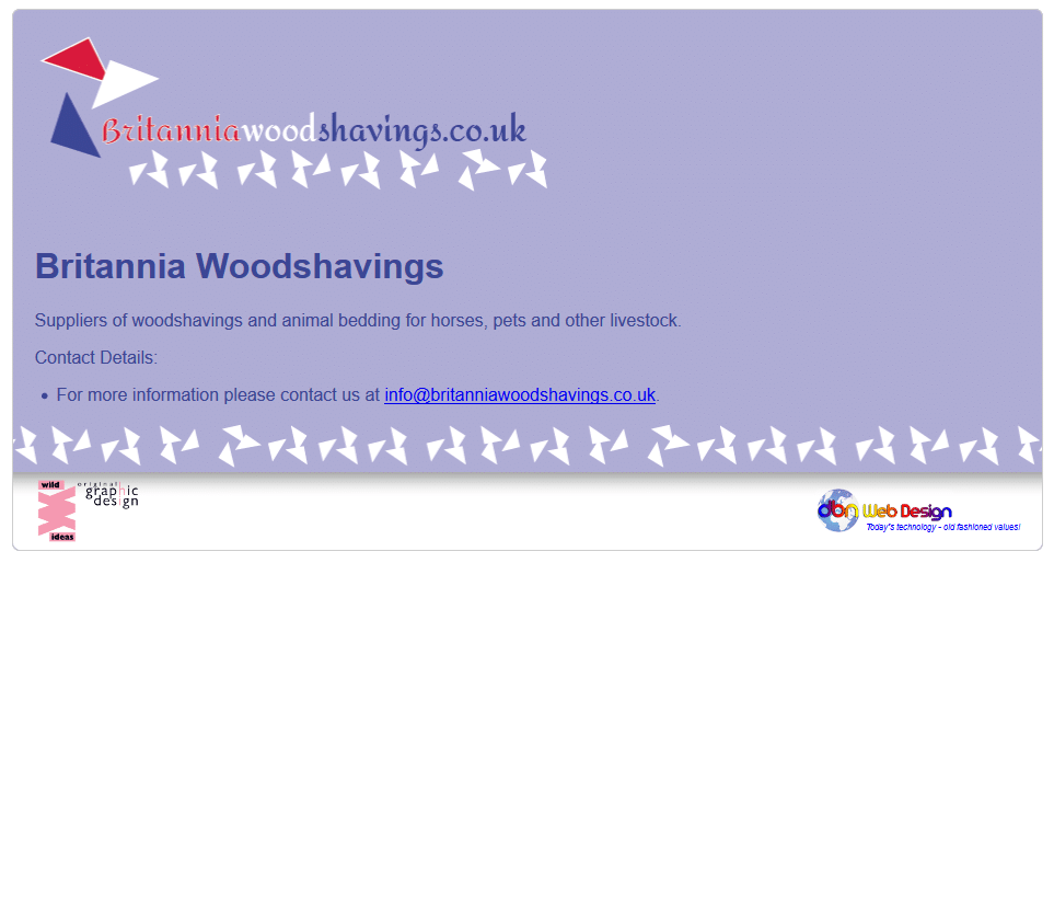 Britannia Woodshavings - www.britanniawoodshavings.co.uk