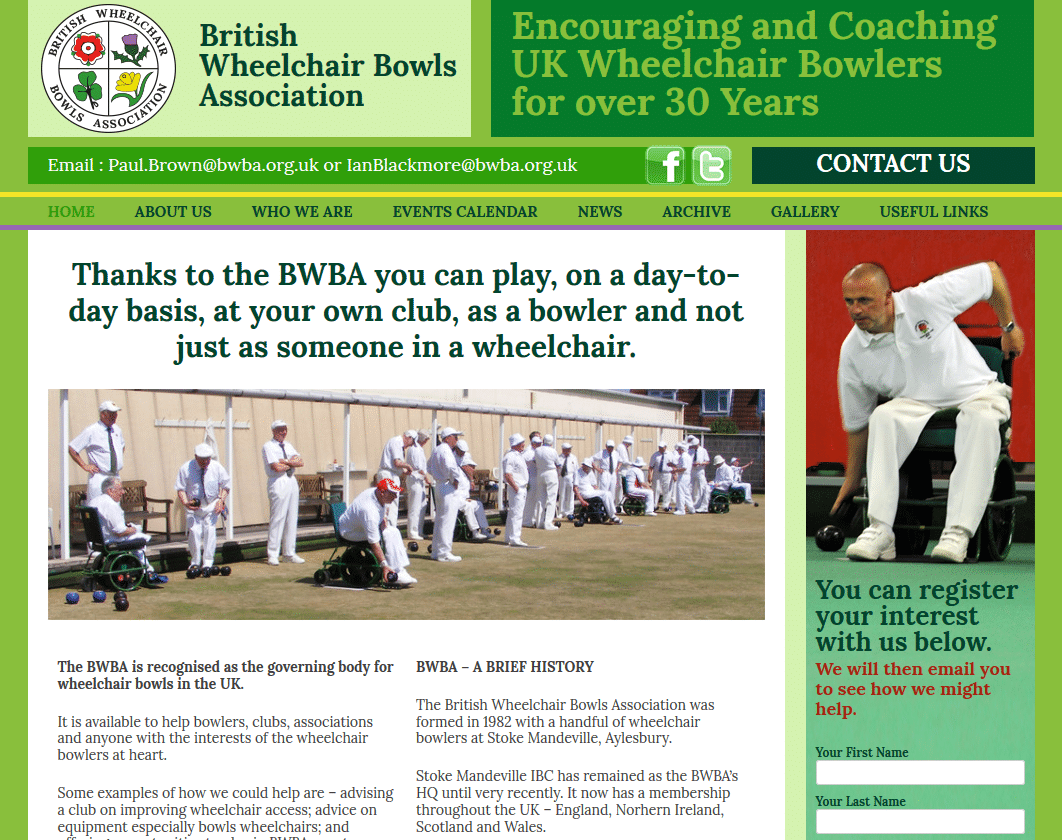 British Wheelchair Bowls Association (BWBA) - www.bwba.org.uk