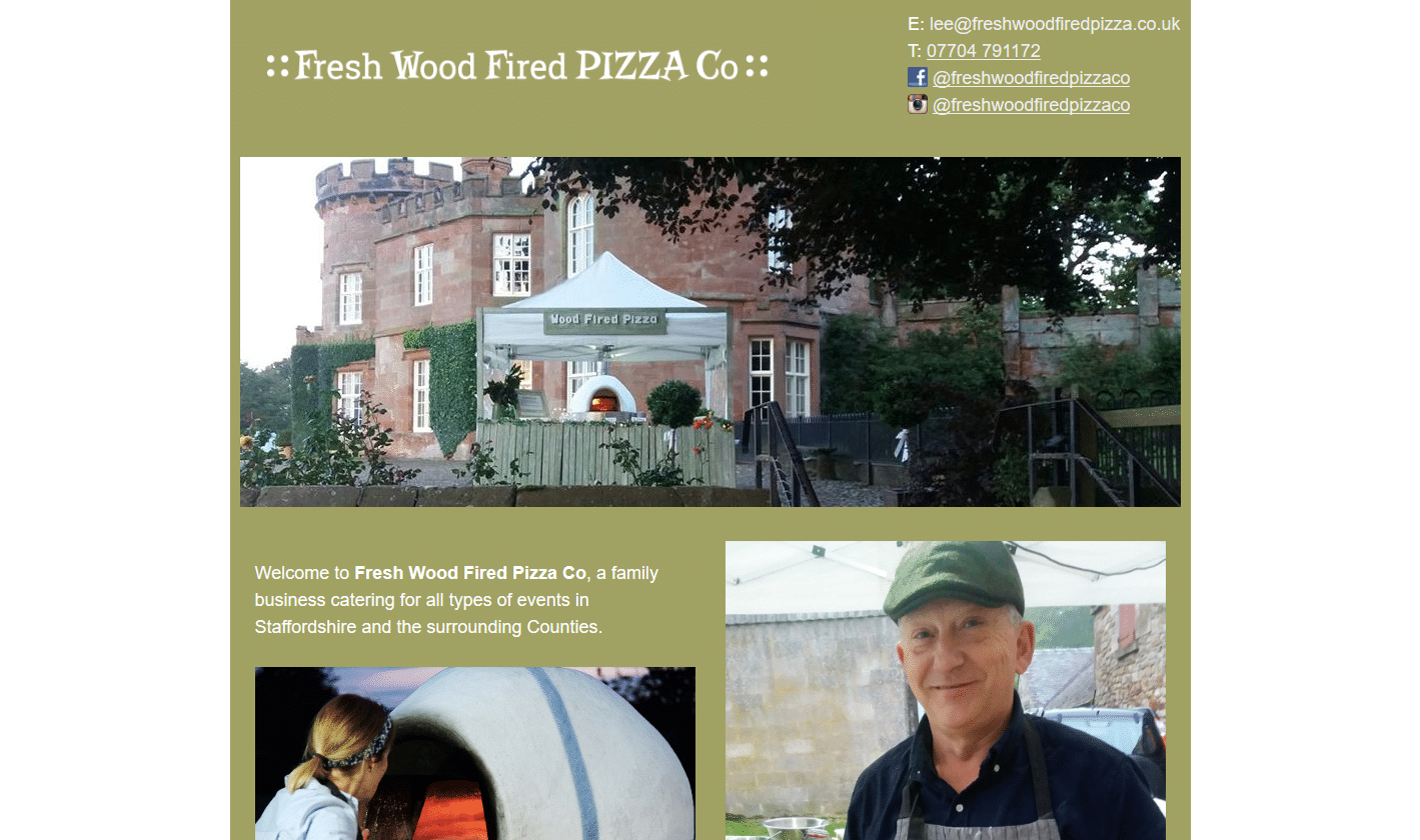 Fresh Wood Fired Pizza Co - www.freshwoodfiredpizza.co.uk