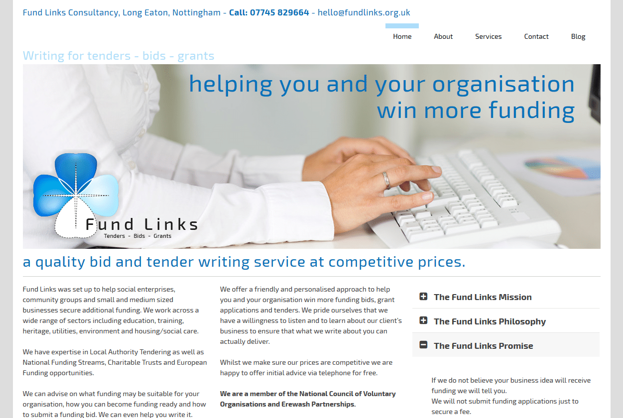Tenders-Bids-Grants by Fundlinks Consultancy - www.fundlinks.org.uk
