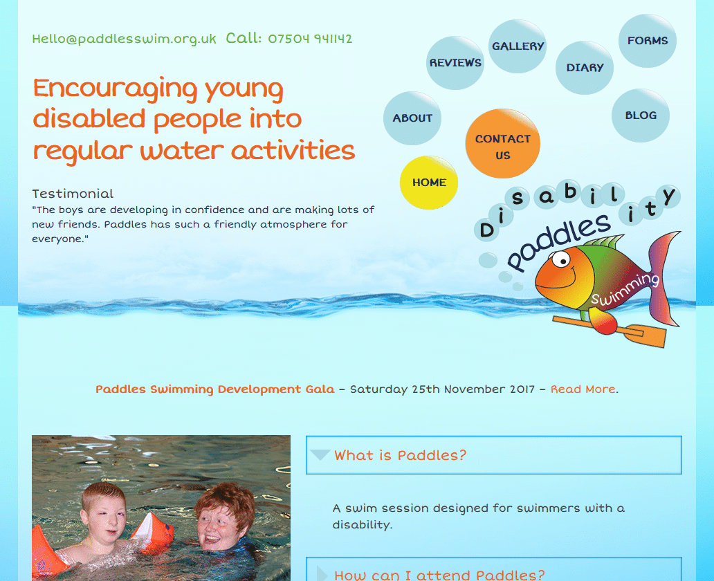 Paddles Swimming - www.paddlesswim.org.uk