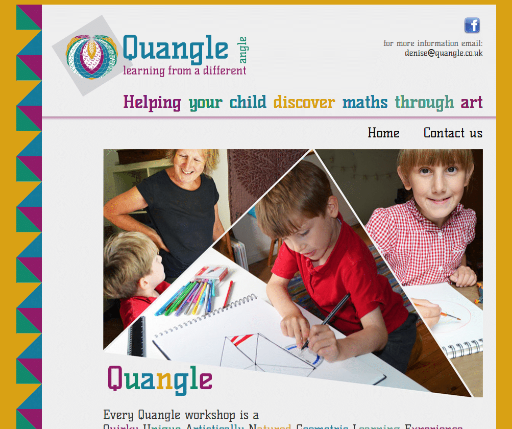 Quangle - Helping your child discover maths through art - www.quangle.co.uk