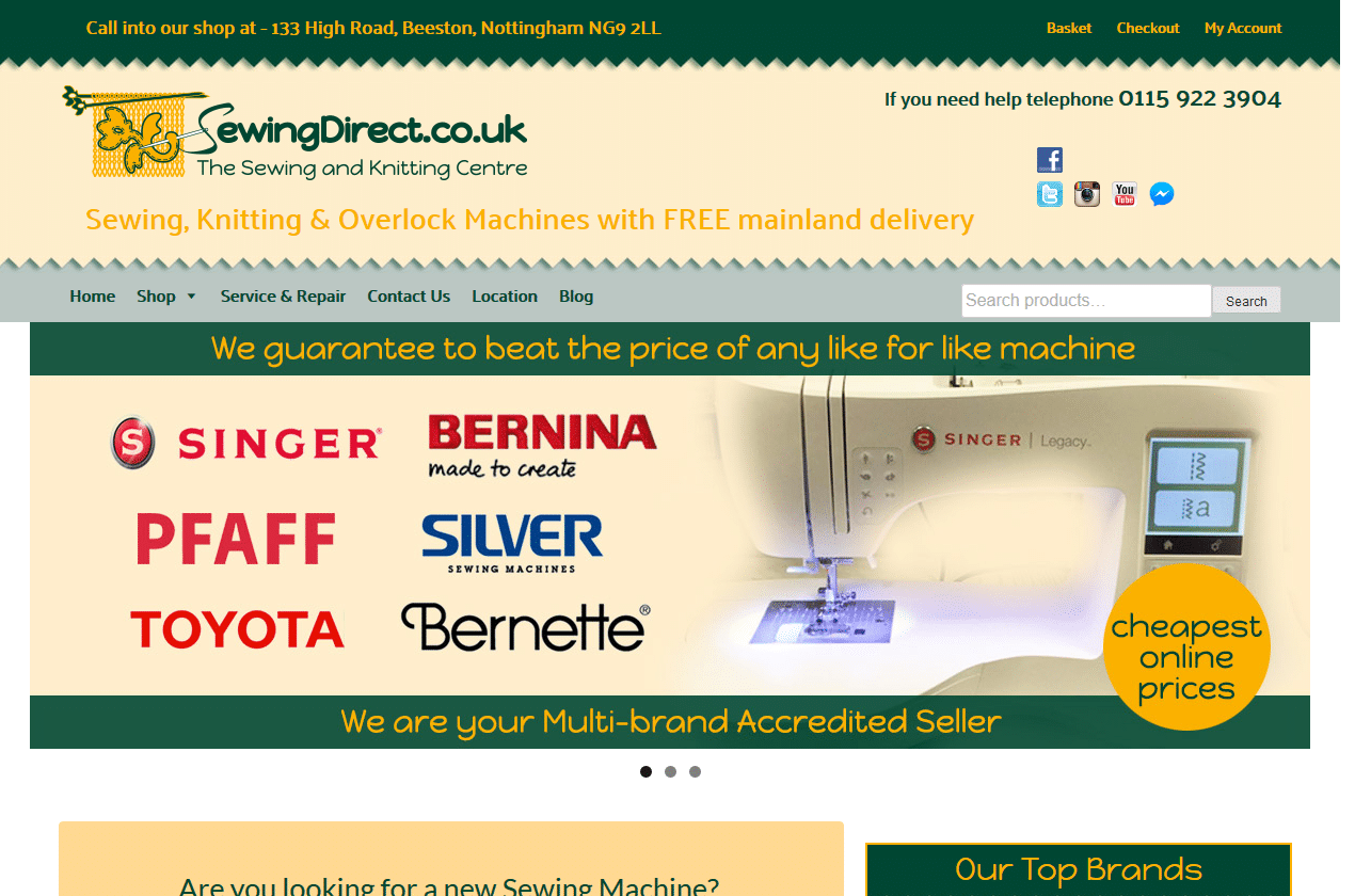 Sewing Direct Discount prices at The Sewing and Knitting Centre_ - www.sewingdirect.co.uk