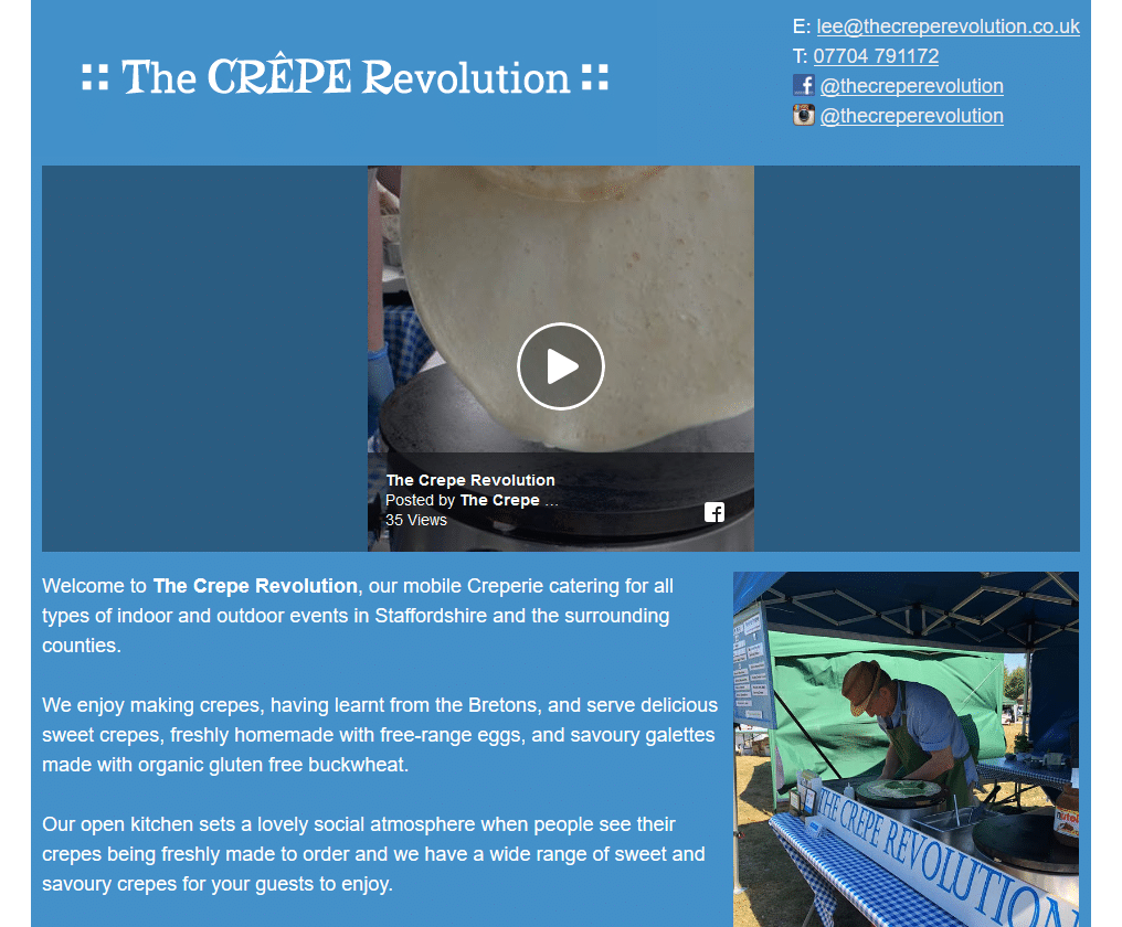 The Crepe Revolution - www.thecreperevolution.co.uk