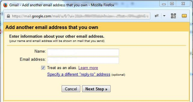 Name and email address