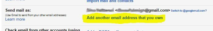 Add another email address that you own